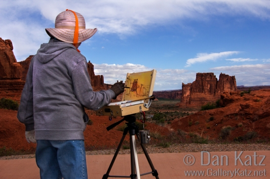 Painting Arches National Park