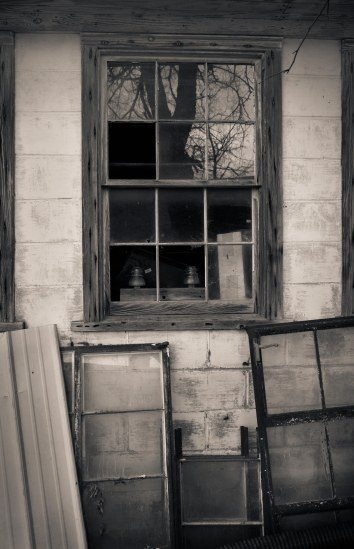 Window Sill Abandoned Home_